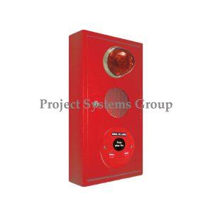 "CP-300 Combination Box ""ประกอบด้วย 1. ตู้ มี 2 สี ( สีแดง , สีขาว ) 2. Indicating Lamp AH-9719 3. Fire Alarm Bell AIP-624B ได้มาตรฐาน UL.LISTED 4. Manual Station"