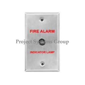 Local Remote Lamp - Indicate Alarm Status - Stainless Steel Faceplate Specification - Voltage: 3 VDC - Size: 7cm. X 11.5cm - LED Color: RED - Single-Gang Electrical Outlet Box""