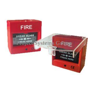 """Manual Call Point """"อุปกรณ์แจ้งเหตุด้วยมือแบบกดกระจกแตก ฐานสี่เหลี่ยม ยี่ห้อ Cemen Manual Call Point with Cover รุ่น S-330C และ Manual Breakglass รุ่น S-330 ผลิตภัณฑ์ประเทศไต้หวัน สำหรับใช้กดแจ้งเหตุเพลิงไหม้ เมื่อเกิดไฟไหม้ เป็นชนิดกดหน้ากระจกให้แตก วัสดุทำด้วยพลาสติกสีแดงทรงสี่เหลี่ยม เมื่อใช้งานแล้วต้องเปลี่ยนกระจกใหม่ และรุ่น S-330C พิเศษตรงที่มีฝาครอบใสสำหรับป้องกันคนกดหรือทุบเล่น หรือพลาดไปกดโดยบังเอิญ สามารถใช้ได้ทั้งไฟ 24 VDC และ 220 VAC"""
